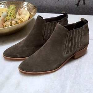 Dolce Vita Gray Suede Slip on Ankle Chelsea Boots